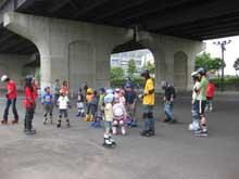 インラインスケート広場
