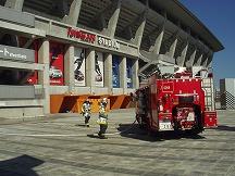 公設消防による消火訓練