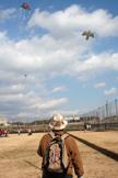 凧名人が揚げる鳥凧