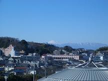 日産スタジアムから見える富士山