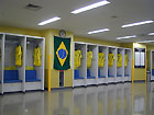 Brazil team's locker room